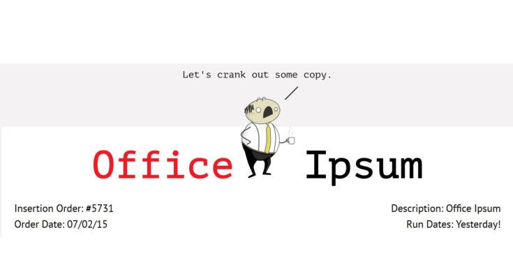 Office Ipsum
