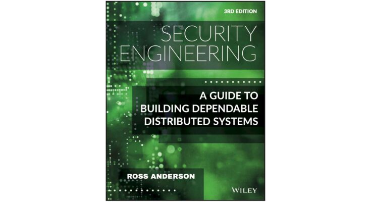 Cover: Security Engineering: A Guide to Building Dependable Distributed Systems, 3rd Ed.