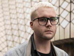Christopher Wylie, a Canadian data scientist, speaks on Aug. 31 at the Antidote festival at the Sydney Opera House about his role in exposing the work of Cambridge Analytica. Fairfax Media