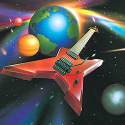 Electric guitar in orbit