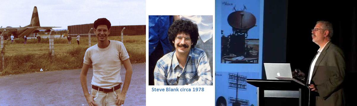 Left: Steve at 19 repairing electronics in Vietnam. (steveblank.com) Middle: Steve circa 1978. (johngreathouse.com) Right: Steve at Museum of Computer History, Nov. 20, 2008. (steveblank.com)