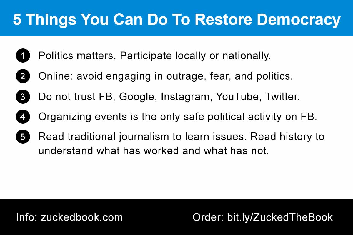 Tip Card: 5 Things You Can Do To Restore Democracy
