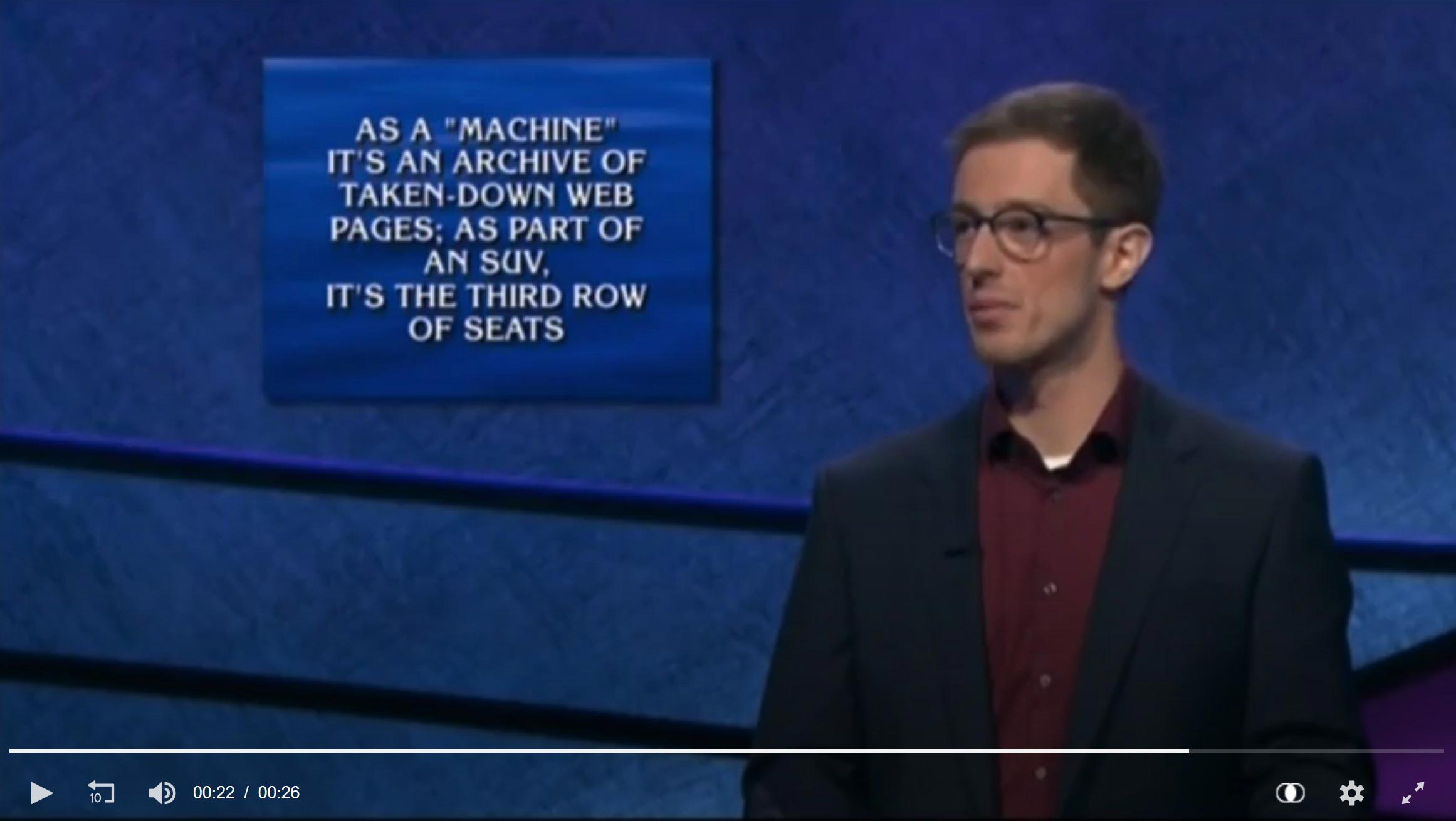Wayback Machine is the Answer on Jeopardy!
