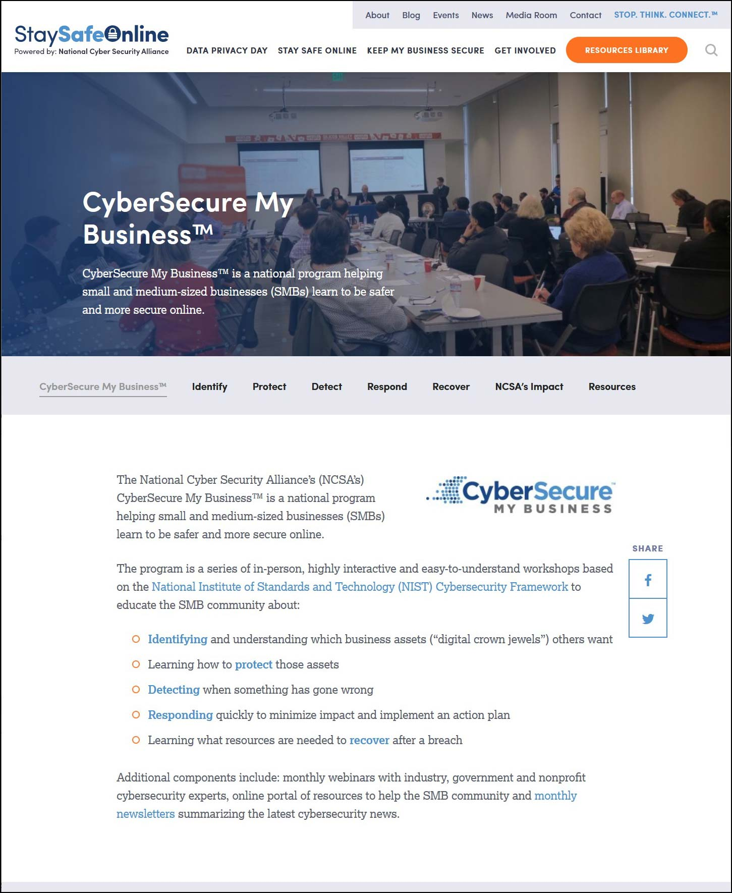 CyberSecure My Business - Homepage
