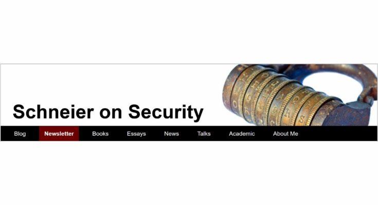 Schneier on Security - Masthead