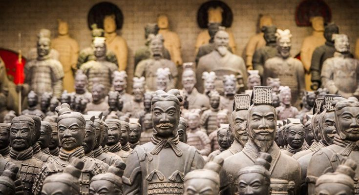 Emperor Qinshihuang's Mausoleum Site Museum, Xi'an, China The Terracotta Army is a collection of terracotta sculptures depicting the armies of Qin Shi Huang, the first Emperor of China. Photo by Manoj Kumar Kasirajan on Unsplash.