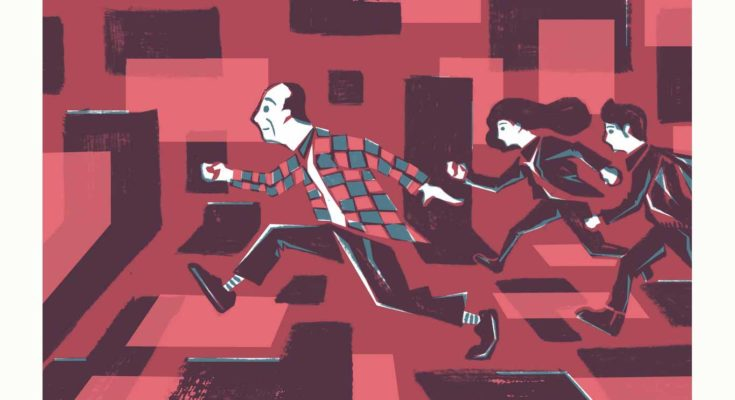 illustration of people running through abstract space - Illustration: Guangyuan Lim