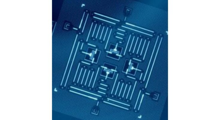 A Josephson junction, core component of one type of qubit.