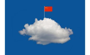 Cloud in sky with Chinese flag - Illustration: Alvaro Dominguez; Getty Images