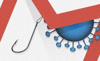 coronavirus fish hook and gmail icon - Illustration: Casey Chin; Getty Images