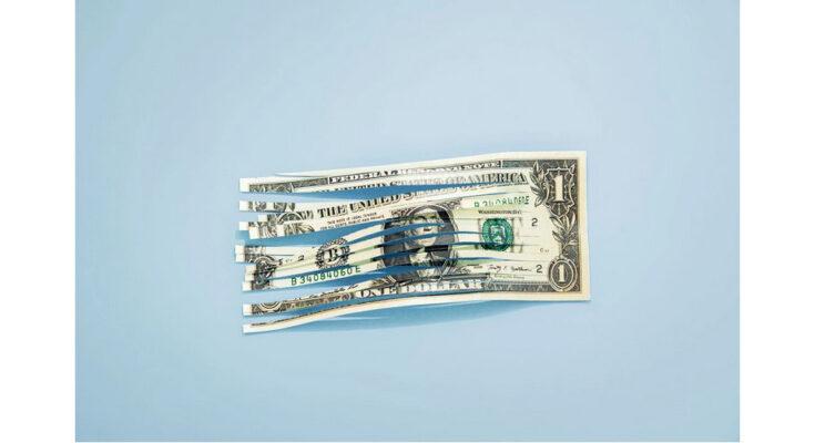 a shredded dollar bill - Photograph: Daniel Grizelj/Getty Images