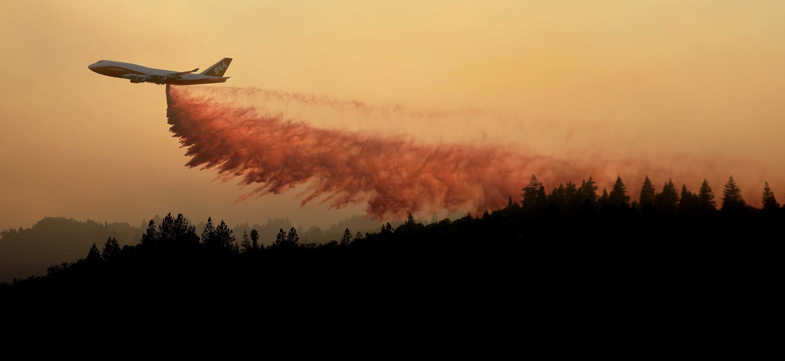 The Global Super Tanker makes an appearance over Dry Creek Valley