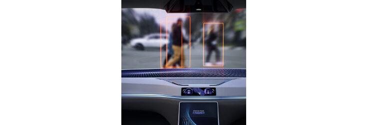 autonomous vehicle identifies pedestrians - Credit: Kollected Studio