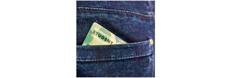 student ID in jeans back pocket - Credit: Delpixel