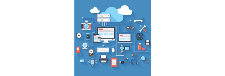 cloud computing and related hardware, illustration - Credit: Getty Images