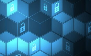 abstract cyber security graphic