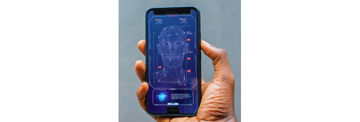 mobile phone with facial recognition feature - Credit: Andrij Borys Associates, Shutterstock