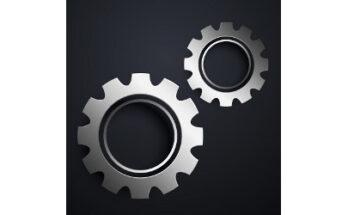 two metallic gears, illustration - Credit: Starline