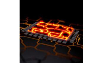 die with molten circuitry, illustration - Credit: dgtl.escapism