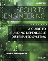 Book cover: Security Engineering: A Guide to Building Dependable Distributed Systems, 3rd Ed.