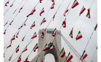 flags - Photograph: Ali Mohammadi/Bloomberg/Getty Images