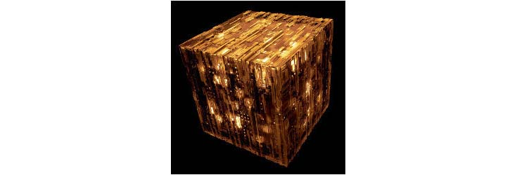 gold box with circuit board exterior, illustration - Credit: Arleksey / Shutterstock