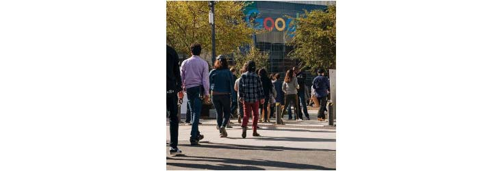 Google employees at walkout in November 2018 - Credit: Getty Images