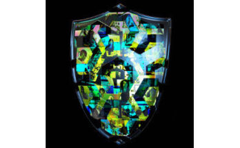 worker portraits on a shield, illustration - Credit: Peter Crowther Associates, Shutterstock