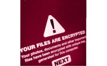 alert stating: Your Files Are Encrypted - Credit: JMiks / Shutterstock